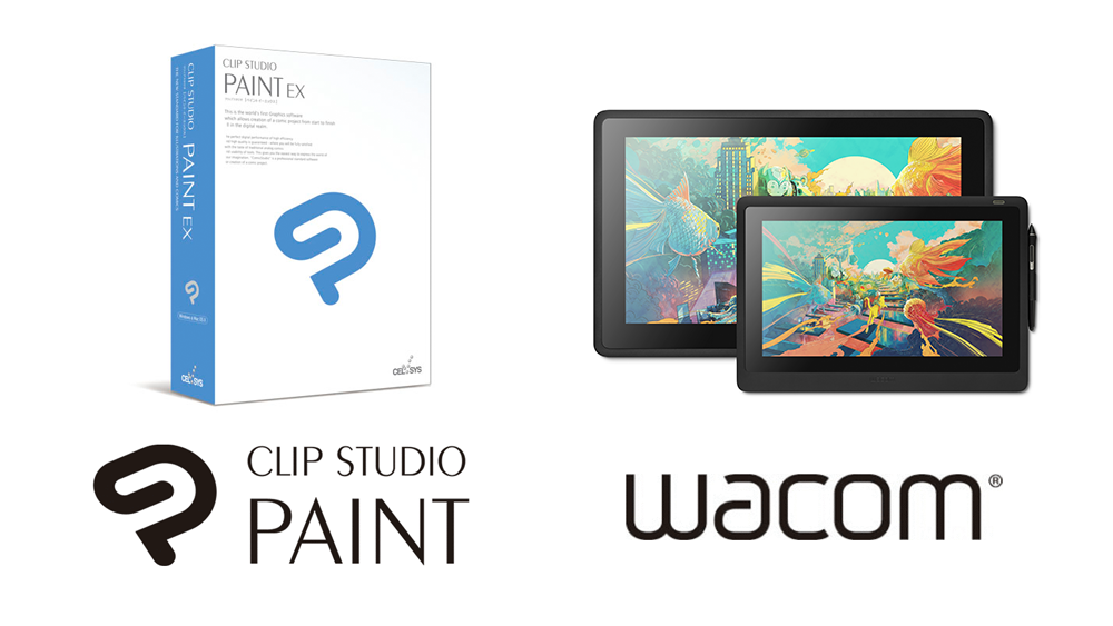 Clip Studio Paint to be Bundled with Latest Wacom Cintiq Series Offering a simple and great creative environment worldwide