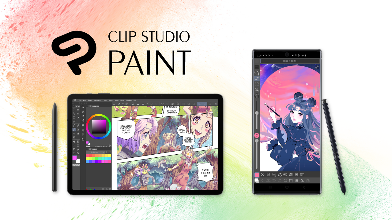 The artist's app for drawing and painting, Clip Studio Paint for Galaxy, now available in the Galaxy Store worldwide Free of charge for the first six months